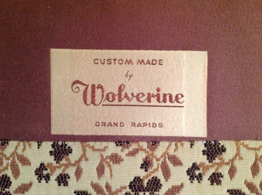 wolverine upholstery tag